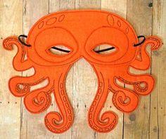 Pulpo sentía máscara por lilliannamarie en Etsy
