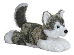 "12"" Aurora Plush Puppy Dog Siberian Husky Flopsie Stuffed Animal Toy 31453 #Aurora"