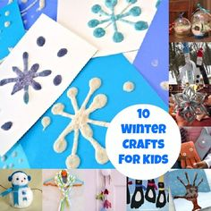 Kids will love using a flour mixture in a dish soap bottle to paint fun snowflake designs. Make them puffy by heating them in the microwave!