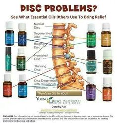 Young Living Essential Oils and Disc problems