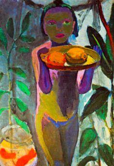 Paula Modersohn-Becker Child with Goldfish Glass Art Print Poster Poster