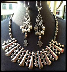 Aztec Metal Choker & Earrings High Quality by BellaEmyJewels