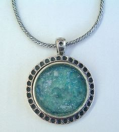 Round Necklace Roman Glass Necklace Gift Necklace by MichalDesigns, $96.00
