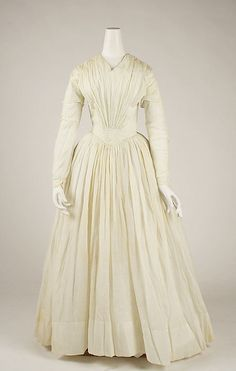 And in this installment of 'beautiful things made of muslin during the 19th century,' we have this confection from 1842.
