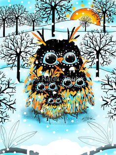 'Snow Owls' by Karin Taylor