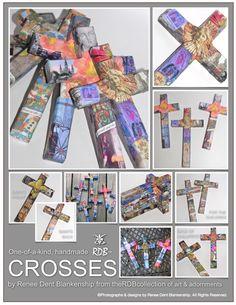 Handmade Sacre crosses created from original photographs by Renee Dent Blankenship