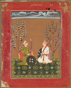 Raga Suramananda, page from a Ragamala series, c.1750 India, Pahari Hills, Bilaspur school, 18th century | Cleveland Museum of Art