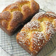 Brioche: King Arthur Flour.......CHIC DE FOMME KING CAKE YELLOW ROLL......