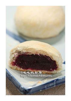 Chinese Recipe: Purple Yam Puff Pastry Cake