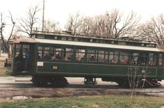 Old # 60 Streetcar in Webb City, Missouri. A working streetcar in King Jack Park.