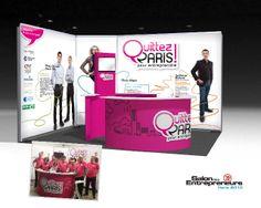 """Opération """"Quittez Paris"""" pour entreprendre #stand #salondesentrepreneurs #lemans"""