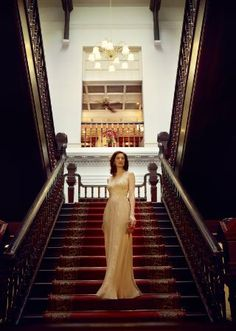 Grand staircase,  Raffles Hotel, Singapore