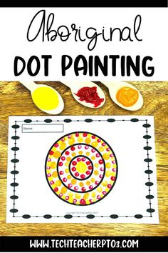 A fun activity for young students, this pack includes a brief historical background on Aboriginal art and clear step by step instructions and visuals so students can create their own artwork. Perfect for NAIDOC Week or any Australian Aboriginal study for your geography or social studies lesson. Aboriginal Symbols, Aboriginal Dot Painting, Art Education Resources, Teacher Resources, Painting Activities, Fun Activities, Primary School Teacher, Australia Map, Australian Curriculum