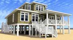 Designed for Water Views - 44091TD   Beach, Low Country, Vacation, Metric…