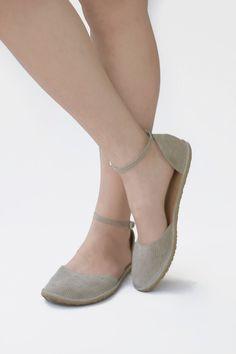 d580346c27bf3 Image of Two-piece flat shoes - Ellie - Dress sandals Zero Drop Shoes