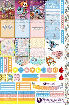 Amazing World of Gumball Free Printable Stickers by AnacarLilian on DeviantArt Free Printable Planner Stickers Kawaii, Free Printable Stationery, Free Printables, Free Planner, Happy Planner, World Of Gumball, Journal Stickers, Washi Tape, Deviantart