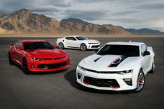 How much of a difference do Chevrolet Performance parts make on the 2017 Chevrolet Camaro? We drove three Camaros on the track to find out. Automobile Companies, Performance Parts, American Muscle Cars, Chevrolet Camaro, Fast Cars, Old Cars, Custom Cars, Cadillac, Super Cars