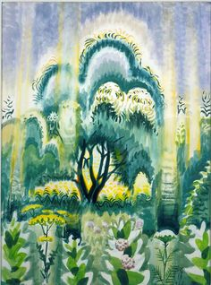 CHARLES BURCHFIELD July Sunlight Pouring Down (1952)