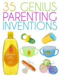 35 Genius Parenting Inventions! Good ideas for baby shower gifts! I have no idea how our ancestors raised kids without these things. Definitely makes parenting a little bit easier! Baby Boys, My Baby Girl, Our Baby, Baby Shower Gifts, Baby Gifts, Little Presents, Shower Bebe, Baby Gadgets, Baby Shampoo