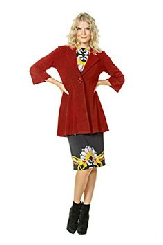 55e967e2385355 SL Empire One Button Jacket - Eva Varro Women's Clothing and Apparel