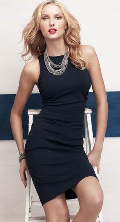 Office style little black dress