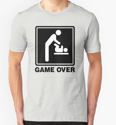 """""""GAME OVER DAD"""" T-Shirts & Hoodies by smilegift 