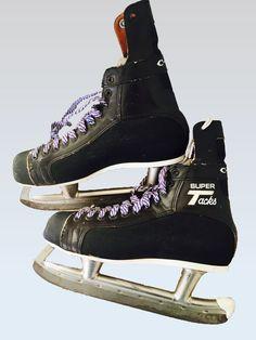 VTG CCM Super Tacks Hockey Skates Prolite Wear Decor Size 8-1/2 4937 EUC EVC | eBay