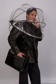 The nubrella. Shoulder mounted umbrella. Because holding an umbrella these days is just ridiculous.