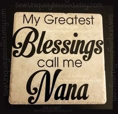 6-inch Keepsake Tile blessed blessings grandma grandchildren mother's mothers day gift idea easter Nana mom mother father dad by SUBdesigns
