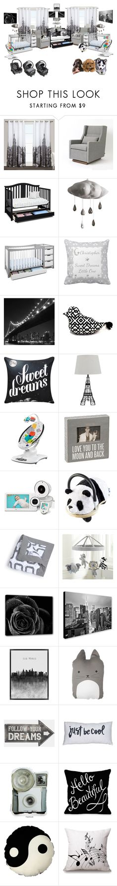 """basic nursery"" by angelika-andrades ❤ liked on Polyvore featuring interior, interiors, interior design, home, home decor, interior decorating, Exclusive Home, Gus* Modern, Graco and WALL"