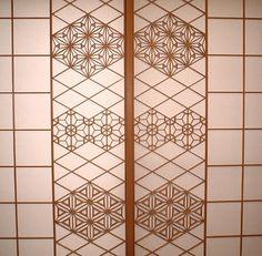 障子 Japanese Door, Japanese Style House, Traditional Japanese House, Japanese Modern, Japanese Design, Japanese Restaurant Interior, Japanese Interior, Patterned Furniture, Japan Architecture
