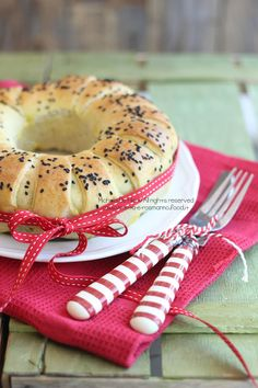 Corona di pane farcita | Menta e Rosmarino