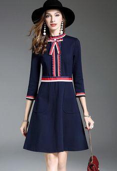 Color Block Midi Dress Khaki Midi Dress, Midi Dress Work, Dresses For Work, Gucci, Fashion Outfits, Womens Fashion, Cool Outfits, Dress Backs, Gamine Style