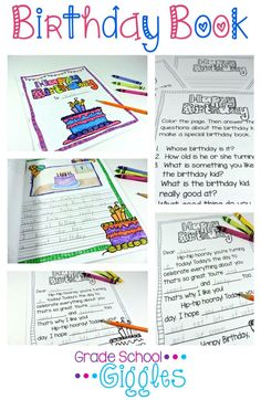 This FREE birthday book is simple and easy to make. Students will each write one page about the birthday kid. The birthday kid gets to color the cover. All of the pages are stapled together to create a keepsake birthday book for the birthday kid to take home.
