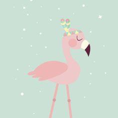 Flamingó türkiz A/4
