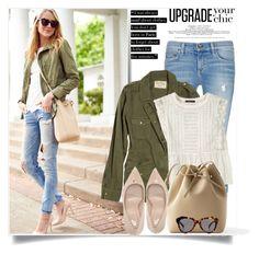 """utility jacket"" by lisamichele-cdxci ❤ liked on Polyvore featuring rag & bone/JEAN, Velvet, Violeta by Mango, Topshop, Karen Walker, BloggerStyle and fashionjackson"