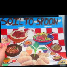 """For the """"soil to spoon"""" poster contest hosted by the water and soil conservation unit of Pickaway county Soil And Water Conservation, Life Poster, All About Fashion, The Unit, School Ideas, Spoon, Fiber, Classroom, Painting"""