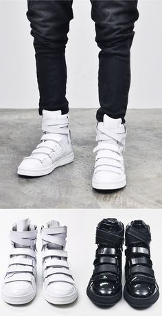 Avant-garde Multi Strap Velcro High-Shoes