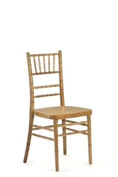 Natural Wood Chiavari Chair - better option when you're looking for a Gold   Chiavari