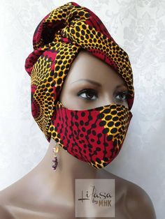 Diwali Fashion, Mouth Mask Design, Scarf Hairstyles, Black Hairstyles, Hair Scarf Styles, African American Makeup, Mouth Mask Fashion, African Head Wraps, African Print Dresses