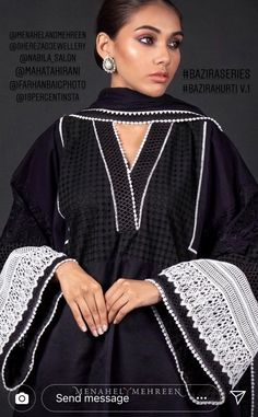 Neck Designs For Suits, Sleeves Designs For Dresses, Dress Neck Designs, Sleeve Designs, Stylish Dresses For Girls, Stylish Dress Designs, Simple Pakistani Dresses, Pakistani Dress Design, Pakistani Fashion Party Wear