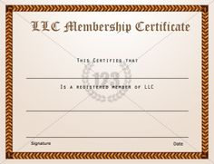 download and use one of our membership certificate template as a