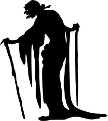 Witch by liftarn - The silhouette of an old witch traced from http://vintagefeedsacks.blogspot.se/2010/09/free-vintage-clip-art-halloween.html