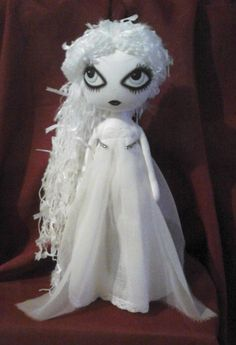 Isabella the Ghost Art Rag Doll Reserved for by ChamberOfDolls