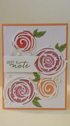 Swirly bird stampin up in colours by Gloria Kremer. In Colors Scrapbook Cards, Scrapbooking, Tarjetas Stampin Up, Bird Cards, Stamping Up Cards, Pretty Cards, Cool Cards, Flower Cards, Creative Cards