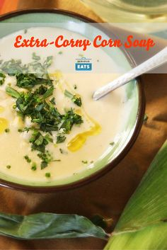 If you want your summer in liquid form, look no further than this corn soup. I like to use the corncobs to flavor the stock for extra corniness. If you've got a pressure cooker, you can get even more flavor out of them, and in record time (though the recipe works just fine in a plain old Dutch oven).