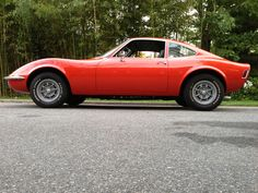 1971 Opel GT with vintage Campagnolo wheels.