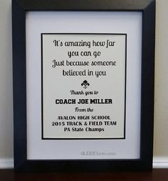 Image result for baseball coach thank you poem