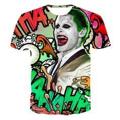 Suicide squad Jared Leto Joker tee t-shirt 80's hwd celebs