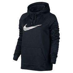NIKE Nike Women'S All Time Print Swoosh Hoodie Black. #nike #cloth #